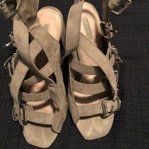 Topshop grey heeled sandals